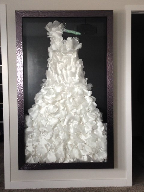 Fine custom framing for your wedding dress the framery for Frame your wedding dress